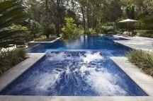Pool with swim jets