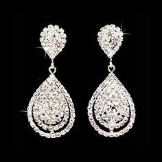 Bridal Wedding Jewelry Beautiful Dazzle Crystal Dangle Fashion 3D Earrings Silver Accessoriesforever,http://www.amazon.com/dp/B00B79ZAAS/ref=cm_sw_r_pi_dp_EKkCsb0PDZ8WBQE3
