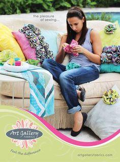 Tutorial: fabric flowers anyone??? - Art Gallery Fabrics - The Creative Blog