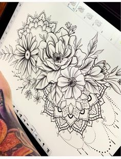 - List of the most beautiful tattoo models Dream Tattoos, Up Tattoos, Finger Tattoos, Future Tattoos, Rose Tattoos, Body Art Tattoos, Tatoos, Flower Mandala Tattoo, Mandala Tattoo Design