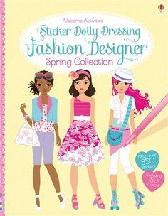 Sticker Dolly Dressing Fashion Designer Spring Collection by Fiona Watt Fiona Watt, Owl Kids, Dolly Dress, Fashion Sketchbook, Little Fashionista, Spring Collection, Designer Collection, Reading, Pattern Fashion