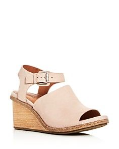 Gentle Souls Gerry Nubuck Wedge Sandals
