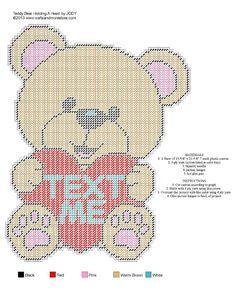 Teddy Bear Holding A Heart 2 of 2