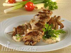 Csirkemell receptek Curry, Pork, Chicken, Kale Stir Fry, Curries, Pork Chops, Cubs