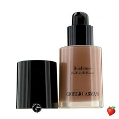 Giorgio Armani Fluid Sheer - # 3 Golden Bronze 30ml/1oz #brown #tan #chocolate #nude #makeup #beauty #natural #tan #eye #lips #foundation #earthtone #GiorgioArmani #MakeUp