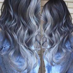 Graue Ombré Haare