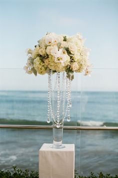 Pretty tall floral centerpiece {Photo: Danae Grace Events}
