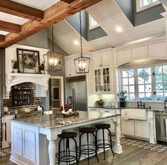 Absolutely love this minus the white cabinets.