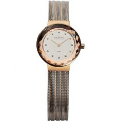 Skagen Skagen Ladies Two Tone Watch With Faceted Bezel 456SRS1 - Skagen from Sarah Layton Jewellers UK