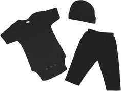 black baby outfit 3 pcs