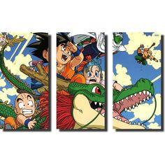 Foto 1 - Quadro Dragon Ball Z Goku Super Sayajin 3 Peças Para Sala M3