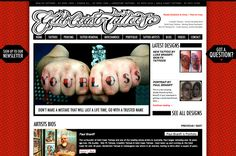 Gold Coast Tattoos website by Anna at Media Heroes