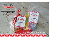 """It's O'Fish""""al, you are my favorite Valentine gift tag. I love this with Swedish fish or goldfish crackers."""