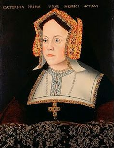 Catherine of Aragon; Daughter of Ferdinand and Isabella of Spain, First wife of Henry VIII, Mother of Mary I.