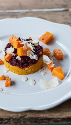 This vegetarian recipe for Josh Eggleton's carrot and beetroot risotto recipe boasts a great array of colours. Serve this fragrant risotto to all the family; kids will be wowed by the colour and adults will love its depth of flavour, bringing together the earthy sweetness of beetroot, with carrots and butternut squash.