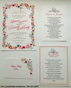 Wedding Invitation Suite By Fort Lauderdale Invitations