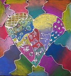 Grade - Pattern using chalk pastels Grade 1 Art, Grade 2, Second Grade, Art For Kids, Crafts For Kids, Teaching Art, Teaching Ideas, Chalk Pastels, Elementary Art