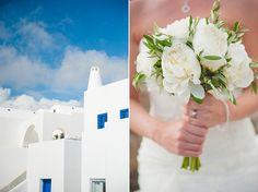 Rustic chic wedding in Santorini | Laura & Paul - Love4Wed