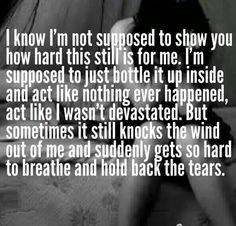 Hard to breathe.