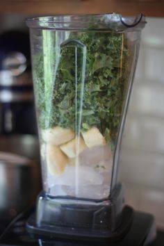 green smoothie (that actually takes like a really yummy milkshake)  http://thepigandthefig.com/2012/08/17/kale-coconut-cinnamon-smoothie/