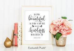 George Elliston - How Beautiful - Quote print - Typographic Printable art wall decor - Inspirational quote poster - Instant download