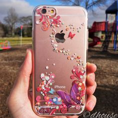 MADE IN JAPAN Soft Clear TPU Case Colorful Butterfly for iPhone 6 & iPhone 6s