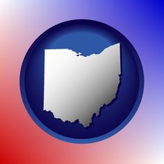 State of Ohio outline map icon.