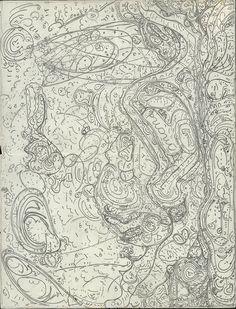 UNTITLED/ Germaine Crohain (c. 1889, Belgium–?), 1937, Brussels, Belgium, pencil on paper, 10 3/4 x 8 1/4 in., Collection de l'Art Brut, Lausanne, Switzerland, cab-A558. Photo credits: © Collection de l'Art Brut, Lausanne. Photo by Amélie Blanc, Atelier de numérisation—Ville de Lausanne