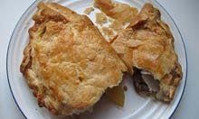 Gary Rhodes's Cornish pasty (note the puff pastry)