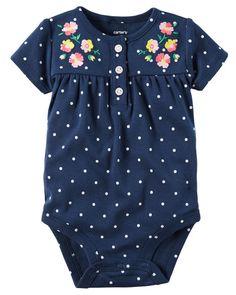 Baby Girl Floral Polka Dot Bodysuit   Carters.com