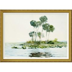 Global Gallery 'St. Johns River, Florida' by Winslow Homer Framed Painting Print Size: