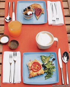 Ham, Swiss, and Tomato Strata - Martha Stewart Recipes Ham Casserole, Breakfast Casserole, Casserole Recipes, Breakfast Strata, Breakfast Bites, Savory Breakfast, Strata Recipes, Brunch Recipes, Breakfast Recipes