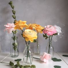 The desk posy collection - paper flowers to keep forever by Paper Bea Company