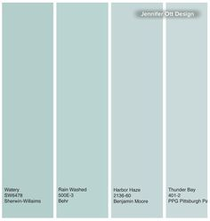 Watery Blues Behr Paint Colors Green Interior Ocean Blue