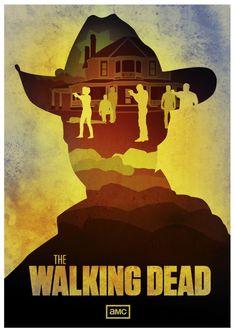Walking Dead Fan Art Poster, by CB Coombs