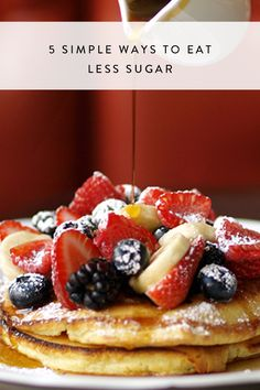 5 Simple Ways to Eat Less Sugar Make these small changes to your diet to eat less sugar and be healthier. Ways To Be Healthier, Healthy Snacks To Make, How To Eat Less, Food To Make, Healthy Eating, Healthy Food, Clean Eating, Low Calorie Recipes, Diabetic Recipes