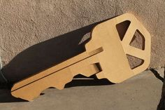 Giant KEY out of cardboard!