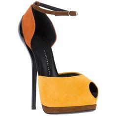 Giuseppe Zanotti Design peep-toe stiletto sandal ($845) ❤ liked on Polyvore