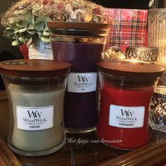 Wonderful WoodWick candles available in my shop....by Silvia Hokke