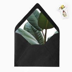 Banana Leaf Palm Envelope Liner DIY Printable by GreyberryDesign
