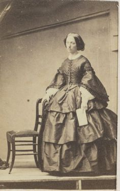 Unidentified Portrait, Anonymous, c. 1860 - c. 1865.   In the Swan's Shadow