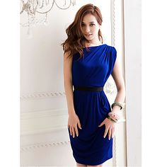 Women's Sexy Sloping Shoulder Mini Dress – USD $ 21.69
