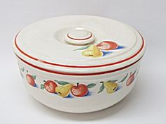 Harker Pottery Casserole & Lid Hotoven Apple & Pear. Click on the image for more information.