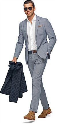 Light Blue Cotton Copenhagen Suit #SuitSupply