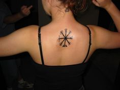 Vegvísir for protection. Nordic compass, runic compass