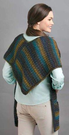 Crochet Poncho, Crochet Scarves, Crochet Clothes, Crochet Lace, Crochet Stitches, Double Crochet, Knitting Patterns, Crochet Patterns, Crochet Accessories