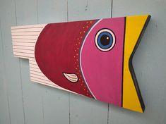 Wood Fish Beach Beach Art Wall art Tropical Fish Scuba