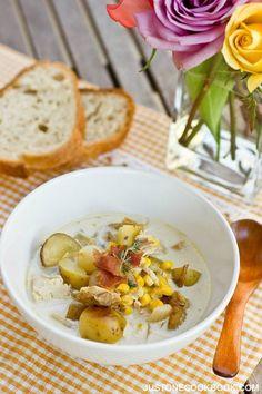 Chicken Corn Chowder (チキンとコーンのチャウダー)   Easy Japanese Recipes at JustOneCookbook.com