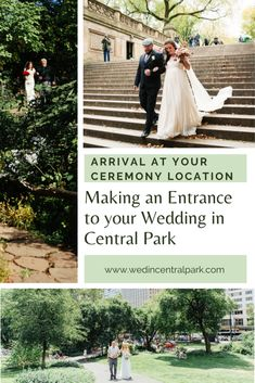 Ways to Make an Entrance at a Wedding in Central Park