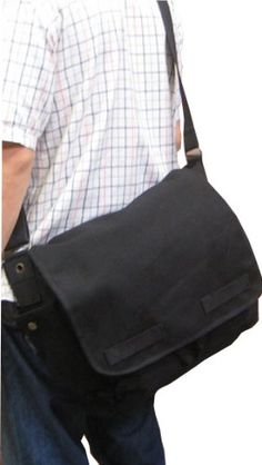BESTSELLER! Vintage Canvas Messenger Bag (Black) $7.99